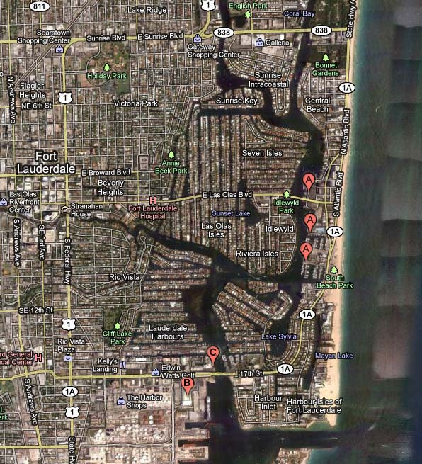 Fort Lauderdale Boat Show 2014 News Map